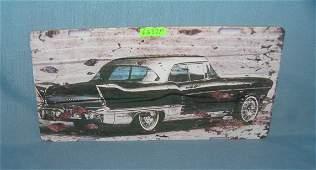 Vintage 50s automobile License plate size retro sign