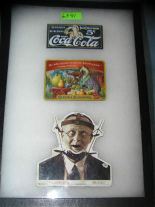 Group of advertising pieces