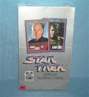 Star Trek factory sealed box of collector cards