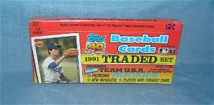 Topps baseball card traded set factory sealed