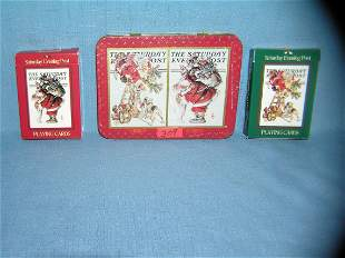 Norman Rockwell Saturday Evening Post deck of cards