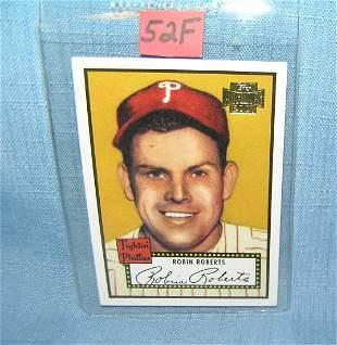 Robin Roberts retro style baseball card
