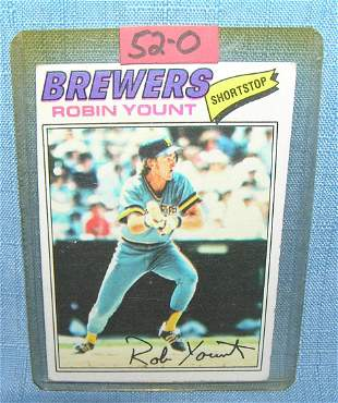 Vintage Robin Yount all star baseball card