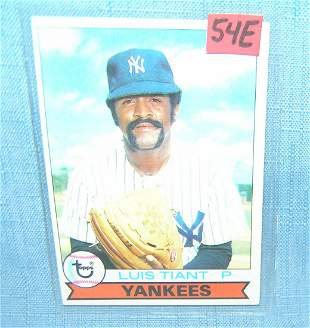 Luis Tiant vintage all star baseball card