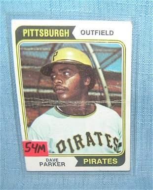 Dave Parker vintage all star baseball card