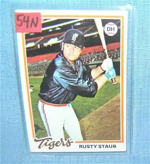 Rusty Staub vintage all star baseball card