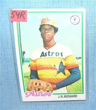 J. R. Richard vintage all star baseball card