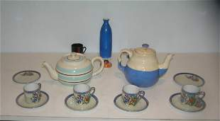 20 piece art pottery and Japanese ware group