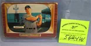 Vintage Bowman Mickey Mantle baseball card