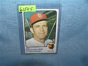 Tim McCarver vintage baseball card 1973 Topps