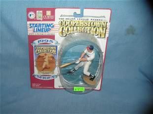 Eddie Mathews baseball sports figure and baseball card