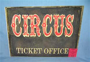Circus Ticket Office retro style advertising sign