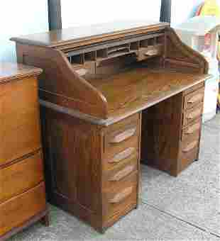 Antique roll top desk circa early 1900's