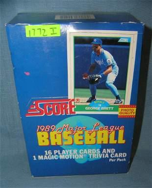 Box full of Score 1989 vintage baseball cards