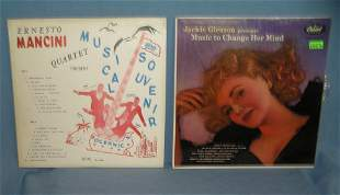 Pair of vintage record albums