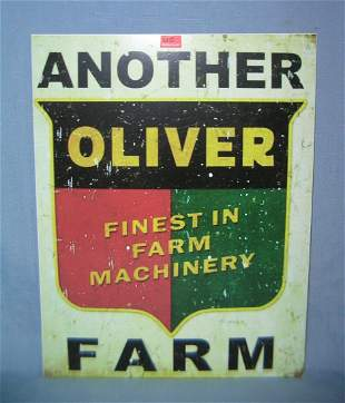 Oliver Finast Farm Machinery retro style sign
