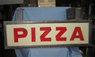 Early PIZZA advertising sign