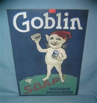 Goblin soap retro style advertising sign