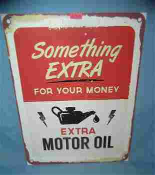 Extra motor oil retro style advertising sign