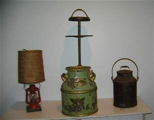 Group of antique farm collectibles