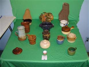 Collection of vintage art pottery