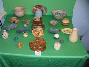 Collection of vintage art pottery and stoneware