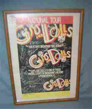 Guys and Dolls poster signed by the cast