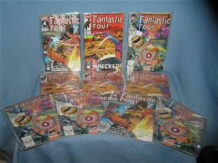 Group of Marvel vintage Fantastic 4 comic books