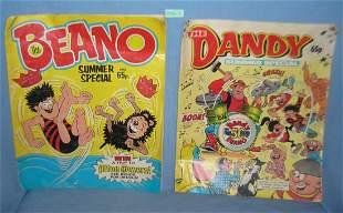 Pair of vintage English comic books
