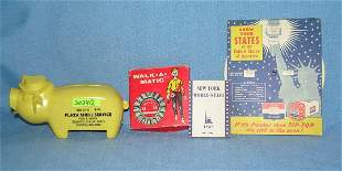 Group of 4 great early advertising pieces