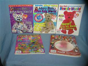 Group of Beanie Baby collector magazines
