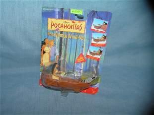 Vintage Disney Pocohontas toy mint on card