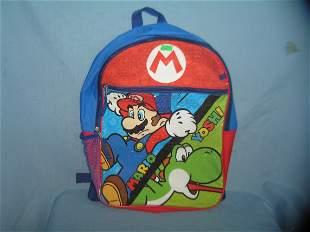 Mario and Yoshi Nintendo advertising back pack