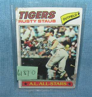 Early Rusty Staub baseball card