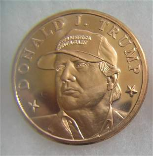 Donald Trump 1 oz fine copper commemorative coin