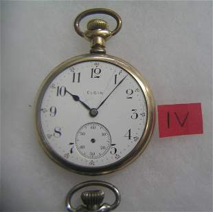 Elgin antique pocket watch gold filled case