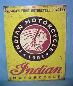 Indian Motorcycles retro style advertising sign