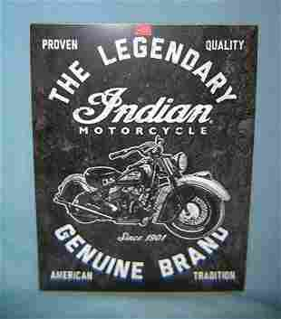Indian Motorcycles retro style advertising sign printed