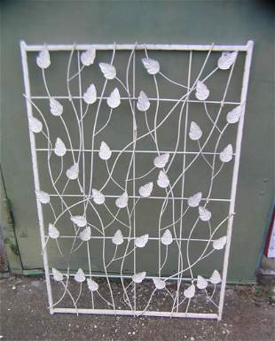Wrought Iron leaf decorated wall panel 24x34