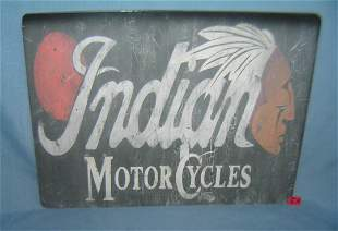 Indian Motorcycle retro style advertising sign printed
