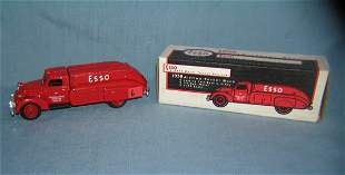 Esso tanker truck coin bank all cast metal