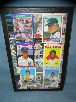 Collection of early NY Yankees all star baseball cards