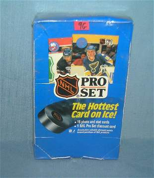 Pro set hockey cards factory sealed box