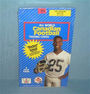 Football cards factory sealed box