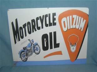 Oilzum motorcycle oil retro style advertising sign