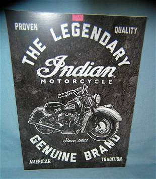 Indian Motorcycles retro advertising sign