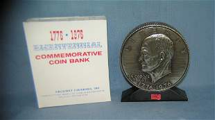 "Eisenhower ""IKE"" savings bank with original box"