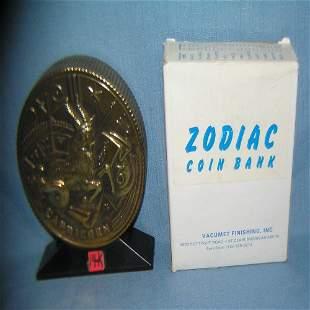Capricorn all cast metal Zodiac bank