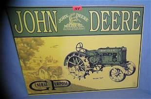 John Deere retro style advertising sign