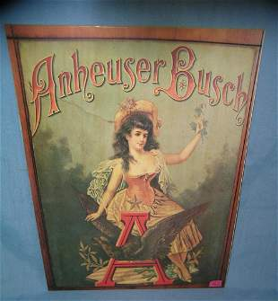 Anhueser Busch retro style advertising sign